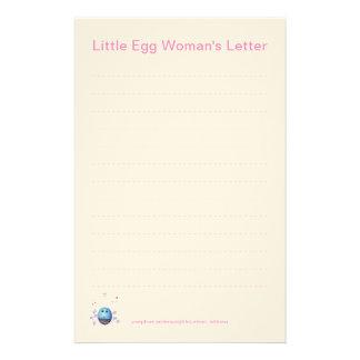 Das Schreibpapier des Mädchens Briefpapier