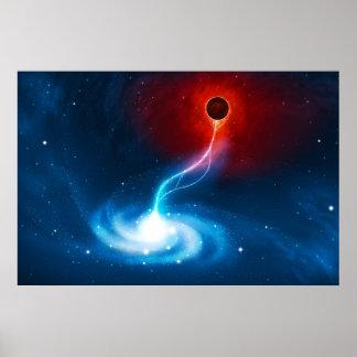 Das schwarze Loch Posterdrucke