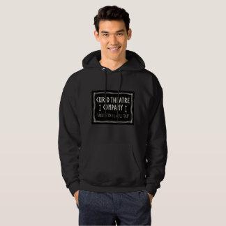 Das schwarze mit Kapuze Sweatshirt der Männer