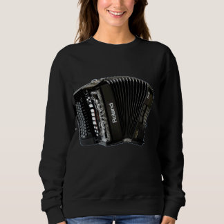 Das schwarze Sweatshirt der Frauen mit schwarzem
