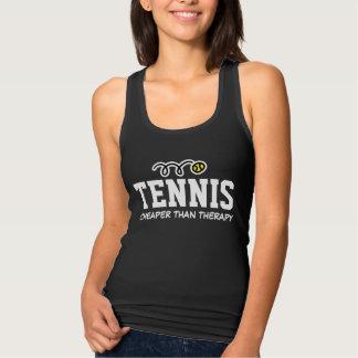 Das schwarze Trägershirt Tennis-der billigeren Tank Top