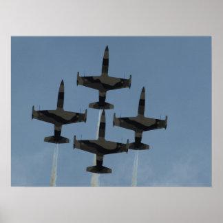 Das schwarzer Diamant-Jet-Demonstrations-Team Plakatdruck