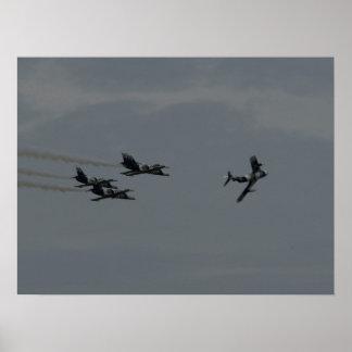 Das schwarzer Diamant-Jet-Demonstrations-Team Posterdruck