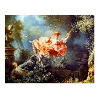 Das Schwingen durch Fragonard Postkarte