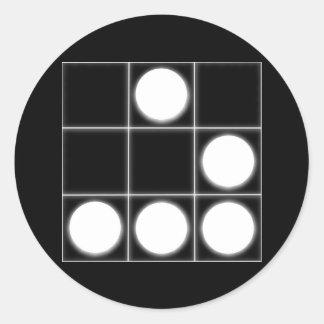 Das Segelflugzeug: Ein universeller Hacker-Emblem- Runde Sticker
