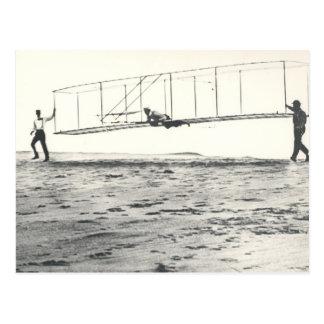 Das Segelflugzeug-Tests Wright-Brüder Postkarte