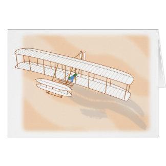 Das Segelflugzeug Wright-Bruders Karte