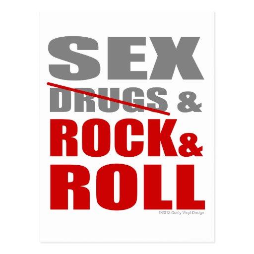 Das SEXDRUGS der Frauen der Männer u. ROCK-ROLLE Postkarte