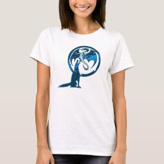 Das Shirt der blauen Frauen des Wolfs u. des