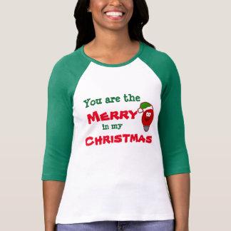 Das Shirt der frohe Weihnacht-lustigen Frauen