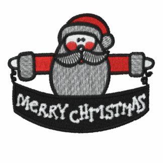 Das Shirt der gestickten Männer froher Weihnachten Besticktes Polo Shirt