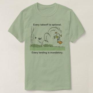 Das Shirt der Klingeln-Enten-Luftfahrt-Spaß-Männer