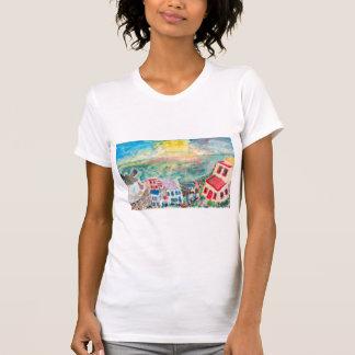 Das Shirt der Mykonos Sonnenuntergang-Frauen