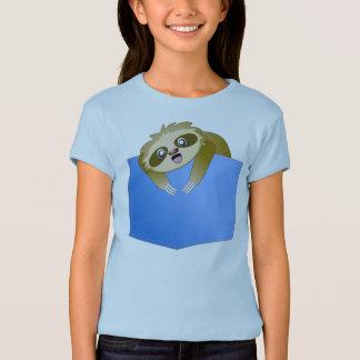 Das Shirt des Sloth-Taschen-Kumpel-Mädchens