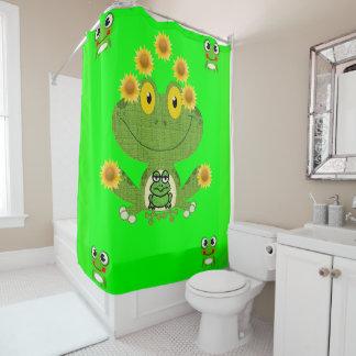 Das showercurtain der grüne gelbe Froschkinder Duschvorhang