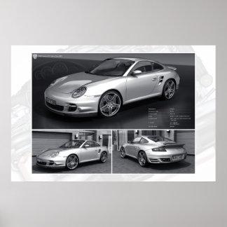 Das silberne Auto Poster