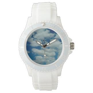 Das Silikon-Sport-Armbanduhr der Wolken-Frauen Armbanduhr
