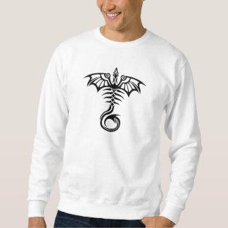 Das Skelett des Stammes- Arttätowierungs-Drachen Sweatshirt