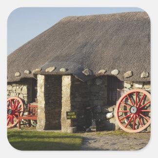 Das Skye Museum des Insel-Lebens, nahe Duntulm, Quadrataufkleber