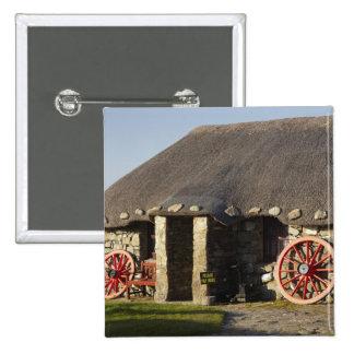 Das Skye Museum des Insel-Lebens, nahe Duntulm, Quadratischer Button 5,1 Cm