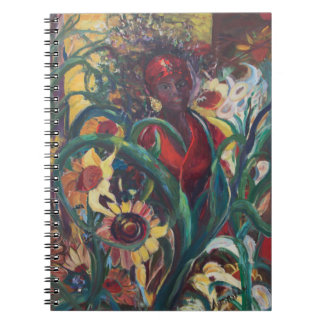 Das Sonnenblume-Frauen-Notizbuch Notizblock