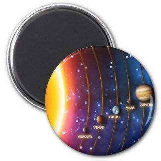 Das Sonnensystem Runder Magnet 5,1 Cm