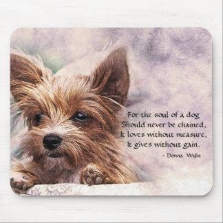 Das Soul eines Hundes - Yorkie Mousepad