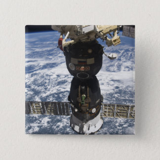 Das Soyuz TMA-19 Raumfahrzeug Quadratischer Button 5,1 Cm