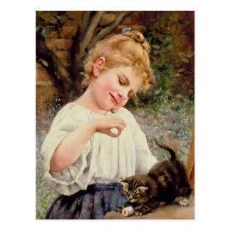 Das spielerische Kätzchen Postkarte