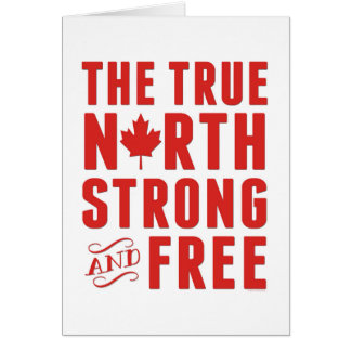 Das starke rechtweisend Nord und geben, Kanada, Grußkarten