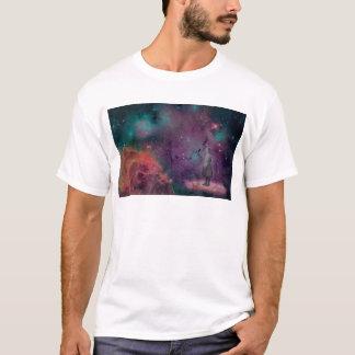 Das stille Mädchen-weiße T-Shirt