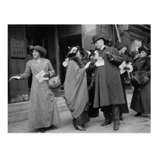 Das Stimmrecht Handouts, 1913 der Frauen Postkarten