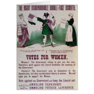 Das Stimmrecht-Plakat der Frauen Karte