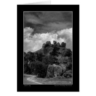 Das Stonehenge des Geistes Monochrom Karte