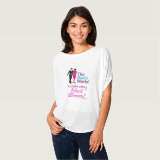 Das Strudel-Weltlogo-Fluss-T-Stück T-Shirt