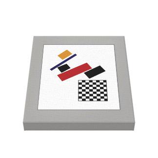 Das SuperSchachbrett, nach Malevich Leinwanddruck