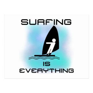 Das Surfen ist alles T - Shirts und Geschenke Postkarte