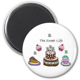Das süße Leben Runder Magnet 5,1 Cm