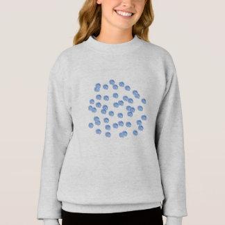 Das Sweatshirt der blauen Tupfen-Mädchen
