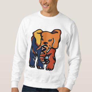 """Das Sweatshirt """"der Elefant-bunten"""" Männer"""
