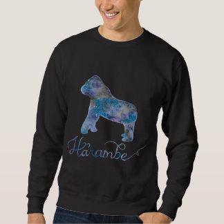 Das Sweatshirt der Harambe Aquarell-Galaxie-Männer