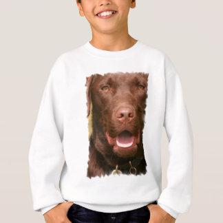 Das Sweatshirt des Schokoladen-Labrador-Kindes