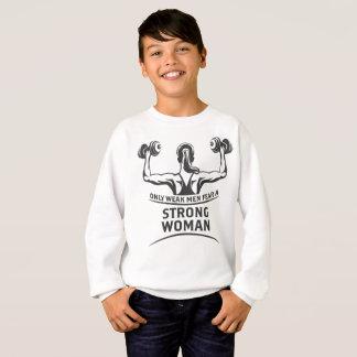 Das Sweatshirt des starken Frauen-Jungen