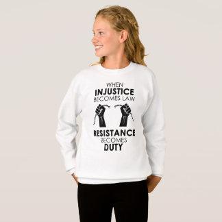 Das Sweatshirt des Ungerechtigkeits-Mädchens