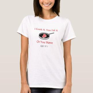 Das T-Shirt der lustigen Frauen, koche ich es