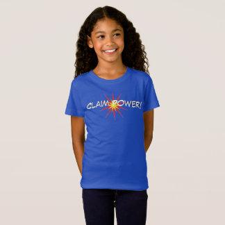 Das T-Shirt des Anspruchs-Power-Mädchens