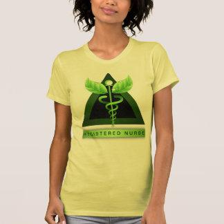 Das T-Stück der Caduceus-Symbol RN-Krankenschweste Shirts
