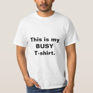 "Das T-Stück der lustigen ""beschäftigter T - T-Shirt"