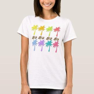 Das T-Stück der Sommer-Palme-Frau T-Shirt