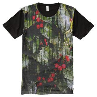 Das T-Stück der Stechpalmen-Beeren-Männer T-Shirt Mit Bedruckbarer Vorderseite